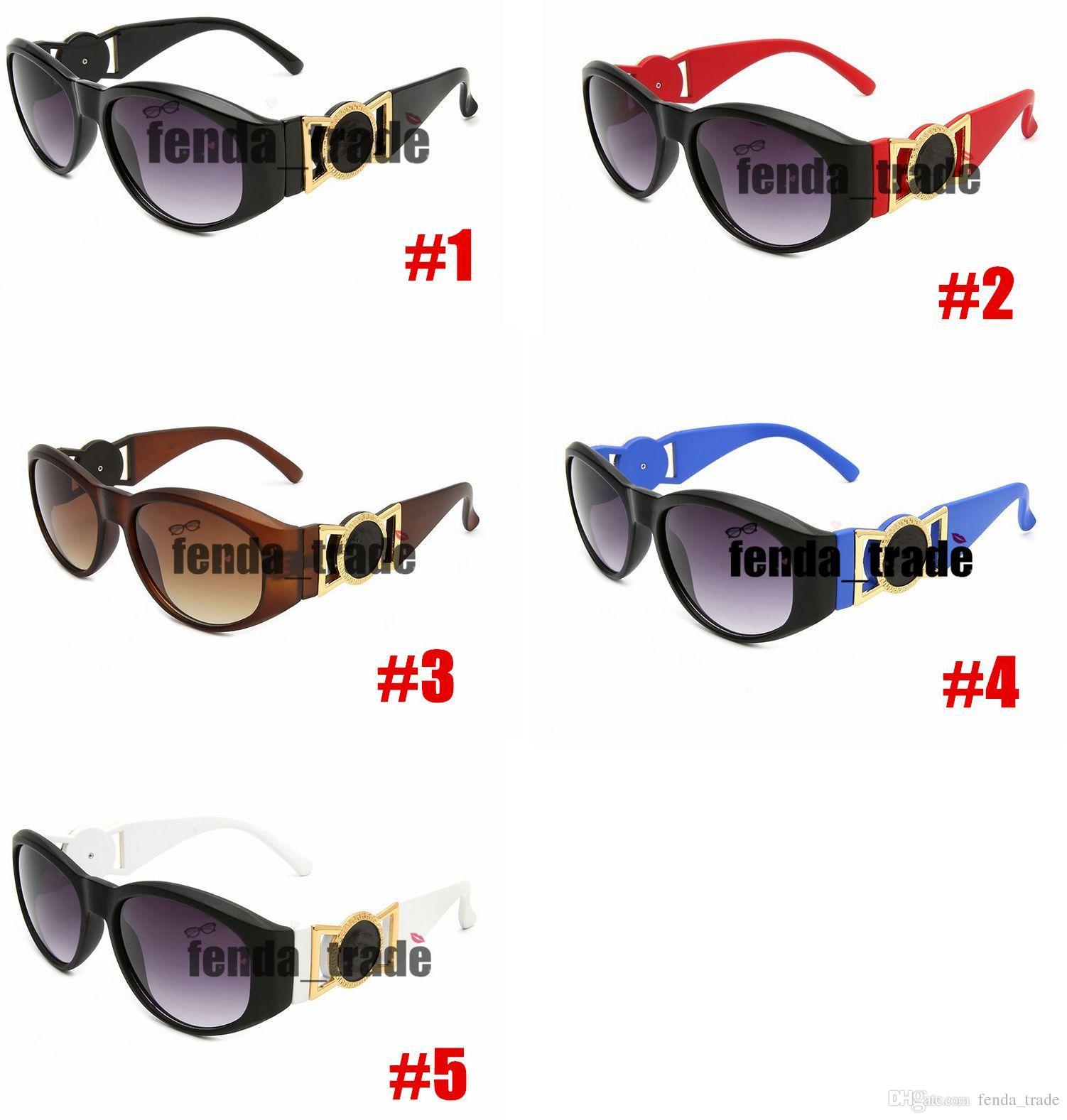 Marka Lüks Erkekler Yeni Güneş Gözlüğü Plastik Gözlük Erkekler ve Kadınlar için 9918 5 Renkler Marka Tasarımcısı Güneş Gözlüğü Erkek Kadın Moda Spor için 10 adet