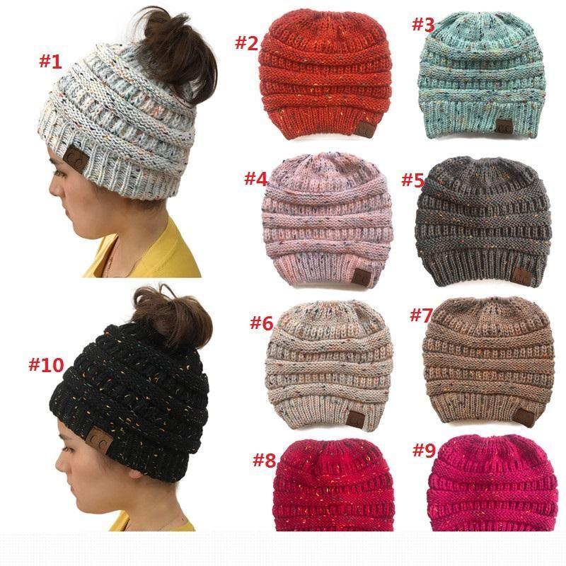 Compre Cc Rabo De Cavalo Gorro Chapéu Mulheres Crochet Knit Cap Inverno  Skullies Gorros Tampas Quentes Chapéus Femininos De Malha Para Senhoras  Chapéu De ... 075ae9eac30