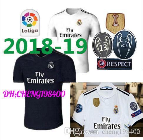 6c79de7a3 18 19 Real Madrid Soccer Jersey Ronaldo Modric Kroos Sergio Ramos ...