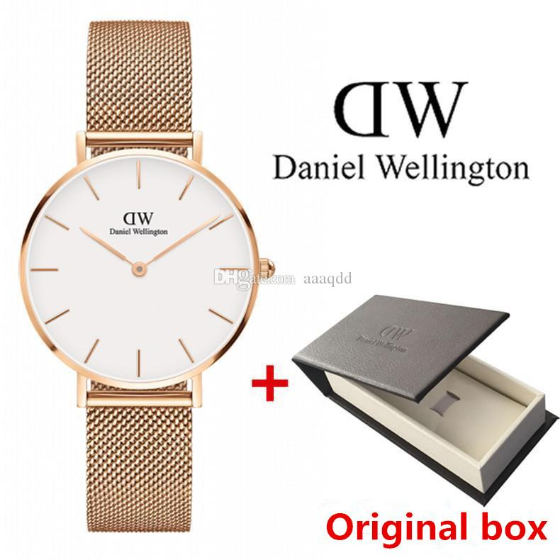 Fino Femme 2019 Dw Mujeres Relogio Correa 40mm Wellington De Cuarzo Acero Watch 36mm Reloj Daniel Hombres Relojes Montre Marca qSzpGLUMV