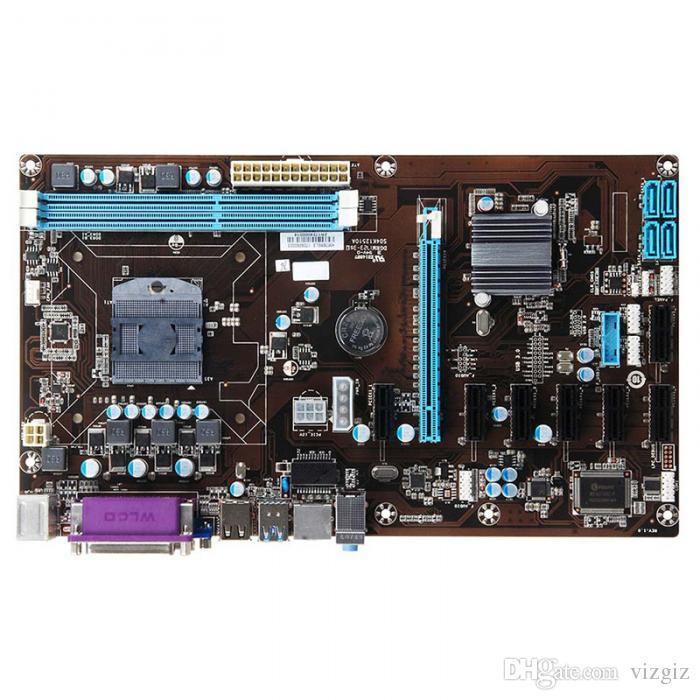 8 GPU LGA 775 DDR3 8-PCIE SATA Mining Motherboard Socket Pour ETH Bitcoin Miners XXM8