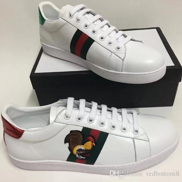 New BoxNew With BoxNew New Weiß Leder Flats Sneakers Classic Casual Schuhes e2c62e