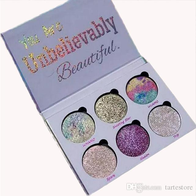 Top Quality Makeup Glitter Eyeshadow Palette You Are Unbelievably Beautiful highlighters Powder Palette DHL