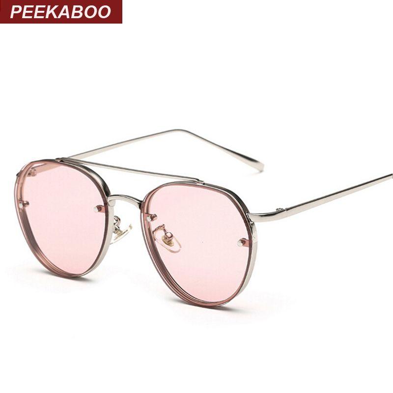 7797f696b3c Peekaboo Newest Yellow Green Pink Ocean Sunglasses Women Fashion Summer  Style Steam Punk Metal Sun Glasses Men Uv400 Lentes De C18110601 Boots  Sunglasses ...