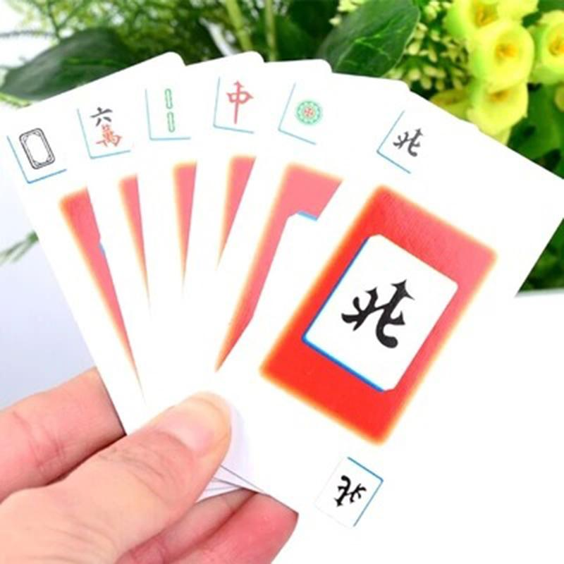 Travel Outdoor Entertainment Props Mahjong Cards Popular Family Party Table Game Card Chinese Style P15