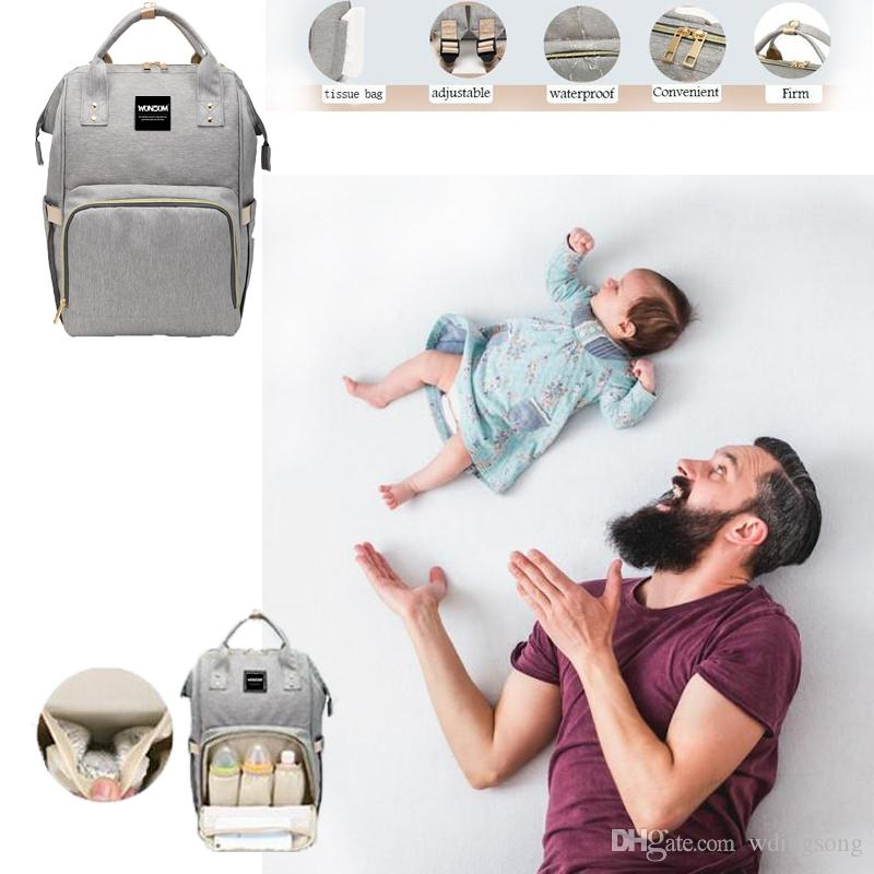 eacdc7b85ca2 Wonzom Diaper Bag Multi-Function Waterproof Travel Backpack Nappy Bags for  Baby Care Large Capacity High quality Mom bag mummy bag