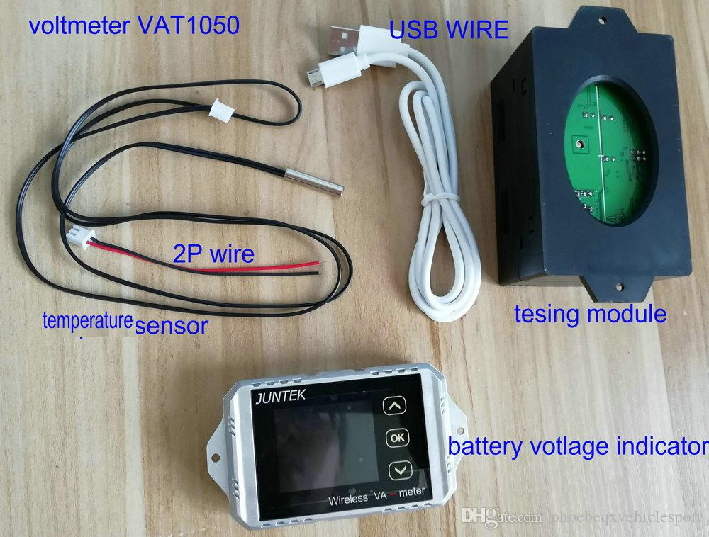 battery indicator wireless colored screen DC voltmeter current meter on