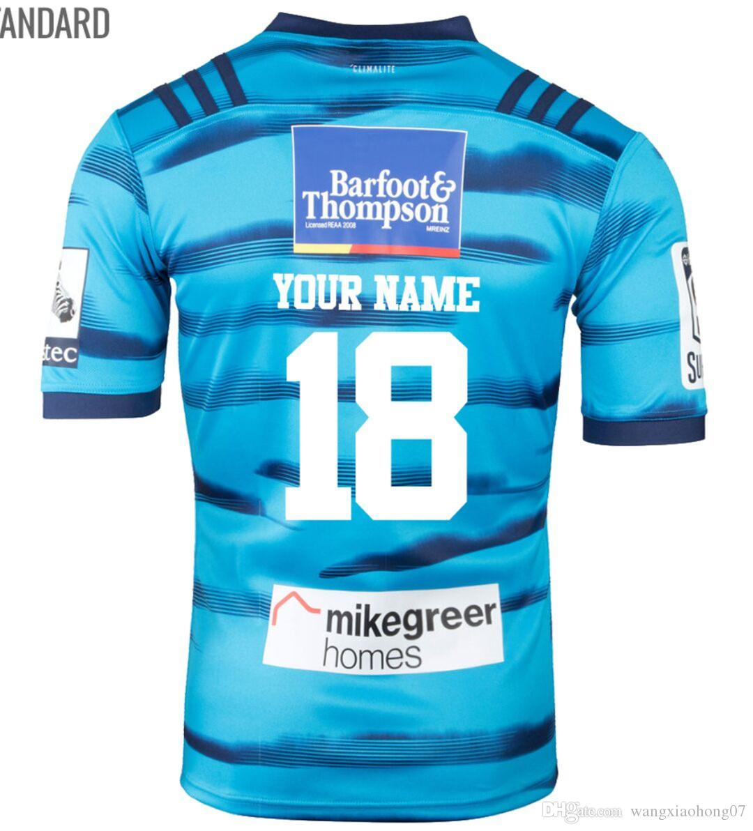 dfd272c6567 2018 Blues Super Rugby Home Jersey New Zealand Super Rugby Blues ...
