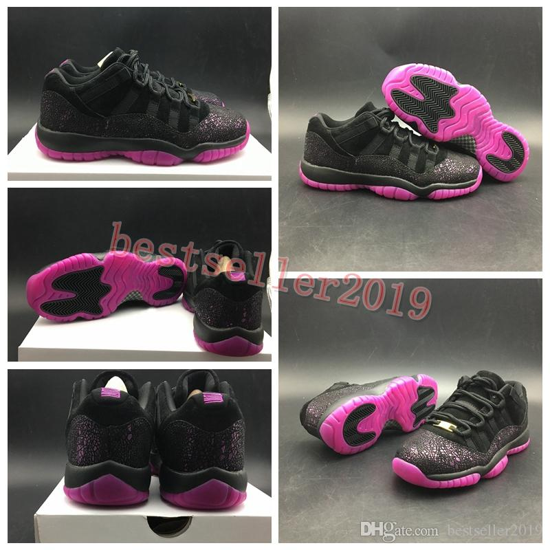 new styles 24a75 443fc 2018 Top Quality 11 Low Rook To Queen Think 1 Women Basketball Shoes 11s  Black Purple Burst Athletic Sports Designer Sneakers 36-40