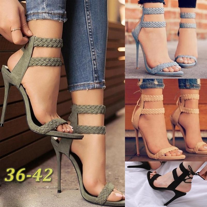3b10e35f52a6 Summer Fashion Sexy Gladiator Sandals Fringed Strap High Heel Women Retro  High Heels Cross Tied Solid Sandals Orthopedic Shoes Comfortable Shoes From  ...