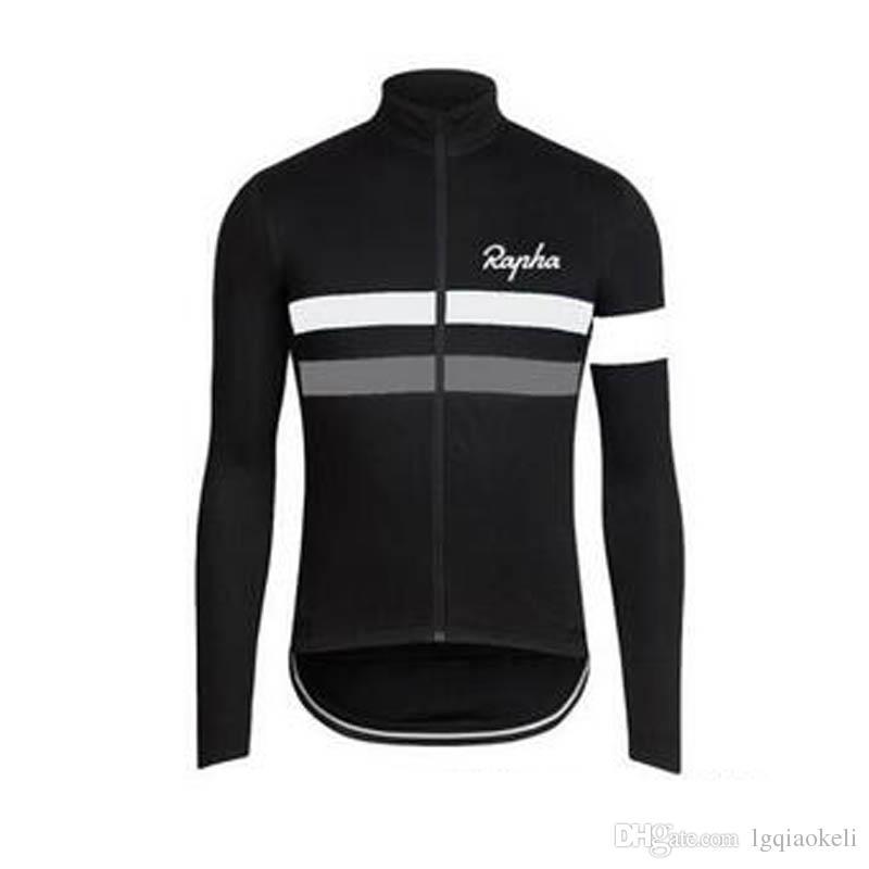 새로운 핫 라파 팀 사이클링 긴 소매 저지 2018 새로운 도착 자전거 옷 여러 선택 간단한 남성 긴 소매의 D0407