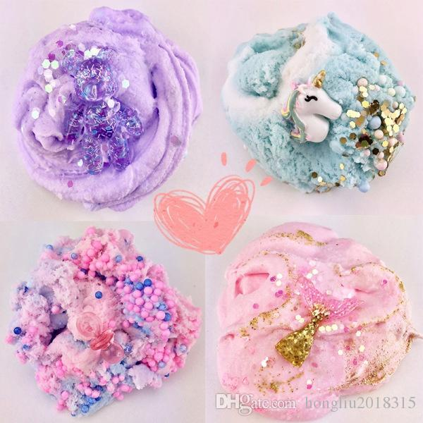 Event & Party Festive & Party Supplies 60ml Colorful Exquisite Unicorn Slime Crystal Mud Cotton Clay Plasticene Diy Decompression Modeling Antistress Toys High Quality Goods