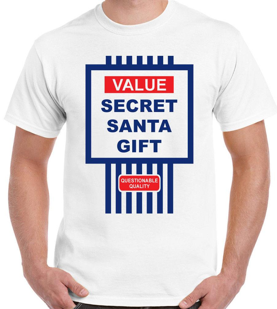 Value Secret Santa Gift Mens Funny Christmas T Shirt Cheap Xmas ...