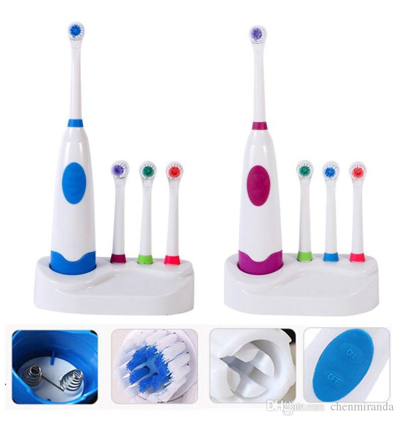 Spazzolino elettrico a 4 teste di spazzolino Igiene orale Prodotti la salute dentale la cura della bellezza Alimentazione a batteria