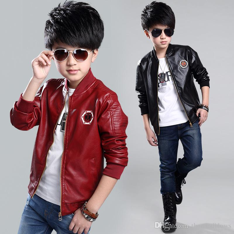 b9e44973b 2018 New Boys Leather Jacket For Spring Autumn Jackets For Big Boys ...