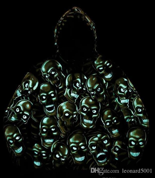 Trend view 2018-GreenRock Pig sup luminoso luminoso Print Night glow maschio e femmina Shin flare Hoodie maglione