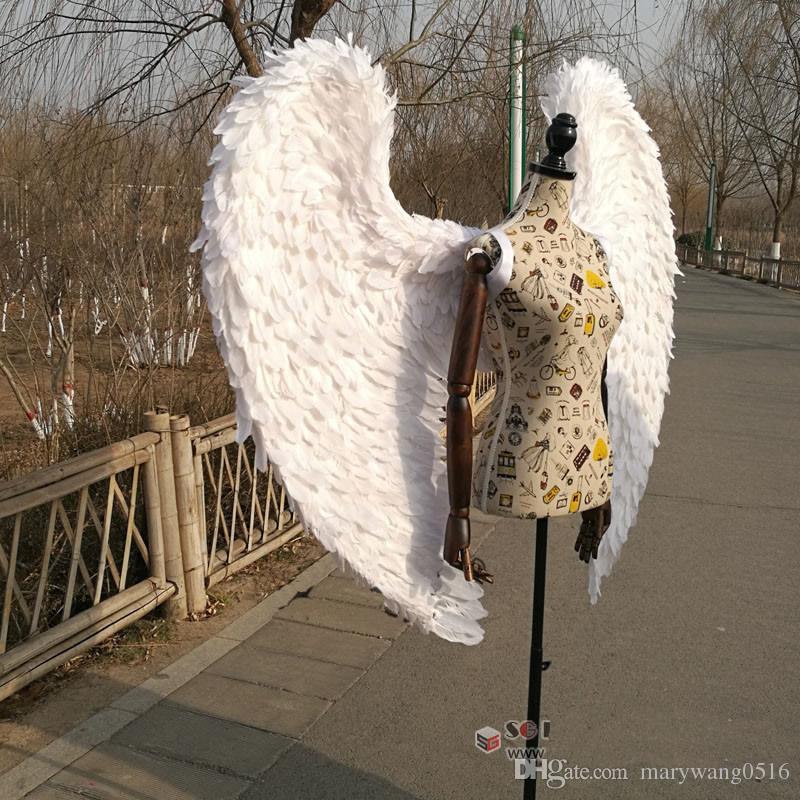 bar ali di angelo bianco Nozze Famiglie Decori fotografia riprese di alta qualità adulti costume Cosplay trasporto libero handmade puro SME