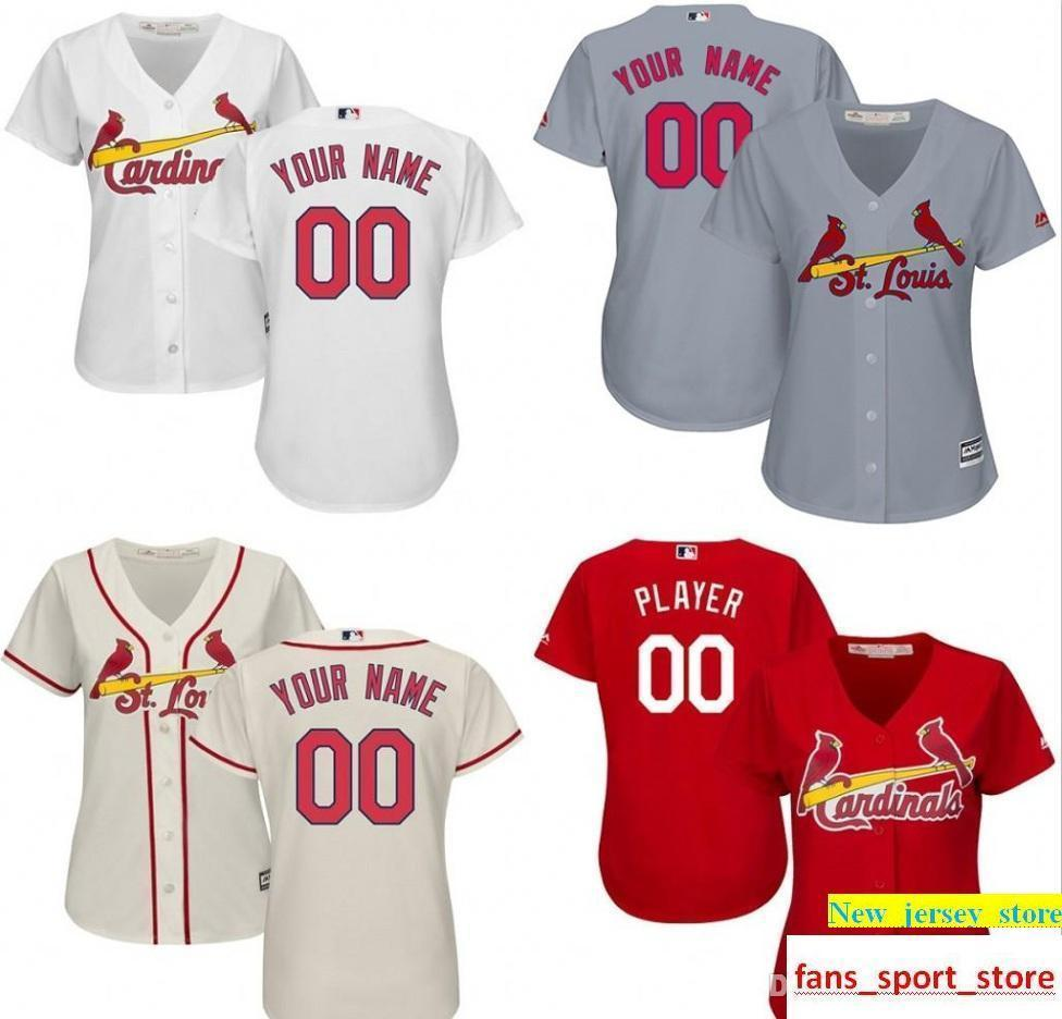 new style c3f61 abc32 WOMEN S Ls Cardinals Custom baseball Jersey Personalized any name and  number stitched Embroidery logos size S-2XL