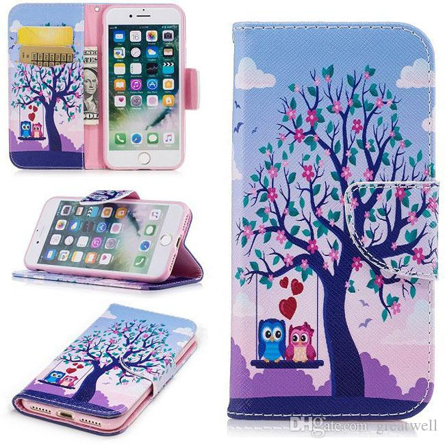 Painted Cute Panda Butterfly Flip Wallet Case Leather Case for iphone 11 Pro Max XS XR 8 7 6S Plus iphone SE 2020
