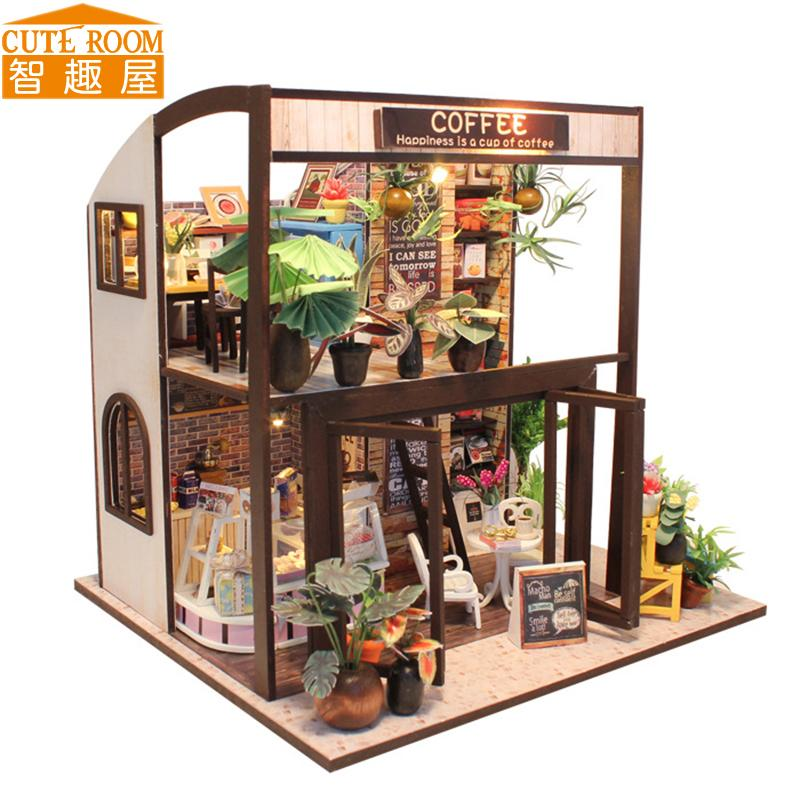 Wholesale Assemble Diy Doll House Toy Wooden