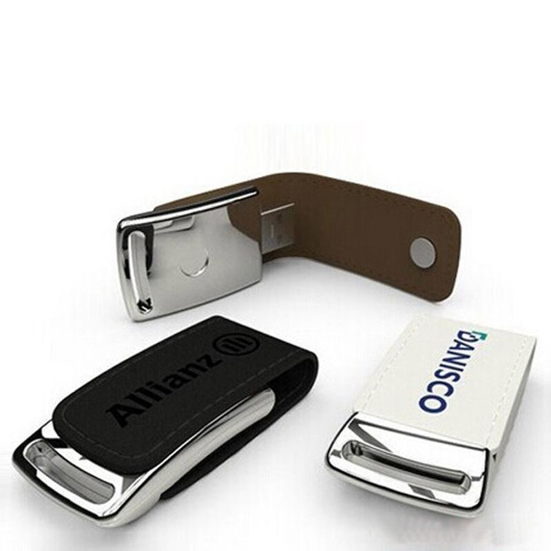 10 Stück 16GB 32GB Kein logo Leder U Disk Leder USB Schlüssel USB3.0 Metall Schlüsselanhänger Leder USB Stick
