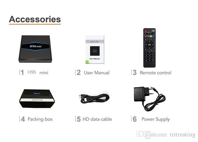 H96 mini Самый дешевый 2 ГБ 16 ГБ Dual AC WiFI TV BOX H96mini Android 7.1 Smart TV Box Bluetooth Amligic S905W TV Box 4K медиа-плеер MQ10