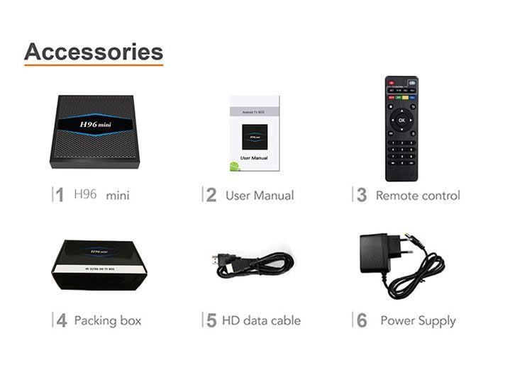 H96 mini Günstigste 2 GB 16 GB Dual-Wechselstrom-WiFI-TV-KASTEN H96mini Android 7.1 Smart-TV-Box Bluetooth Amligic S905W TV-Box 4K Media Player MQ10