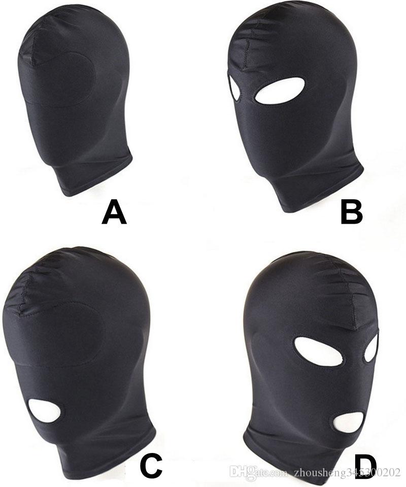 4 стили головной убор Маска бондаж сдержанность слепой Маска см секс игрушки для пары / женщины / мужчины / гей раб головные уборы БДСМ игрушки