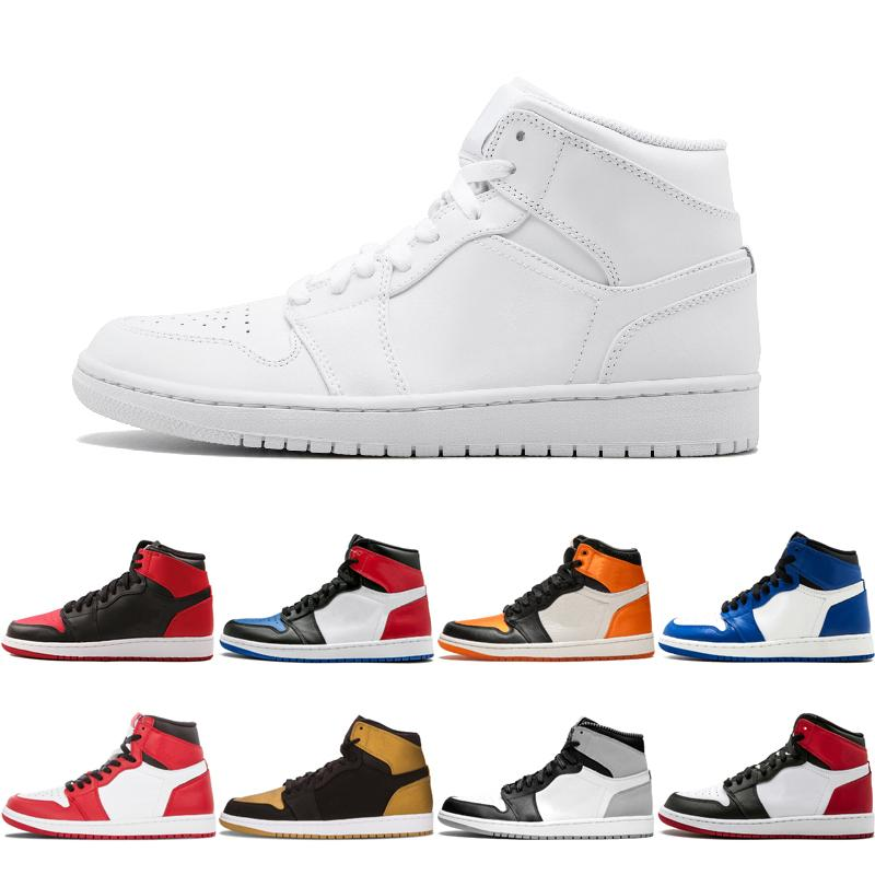 b756f9bdd410 1 High OG Game Royal Banned Shadow Bred Toe Basketball Shoes Men 1s  Shattered Backboard Silver Medal Sneakers High Quality Mens Sneakers  Basketballs From ...