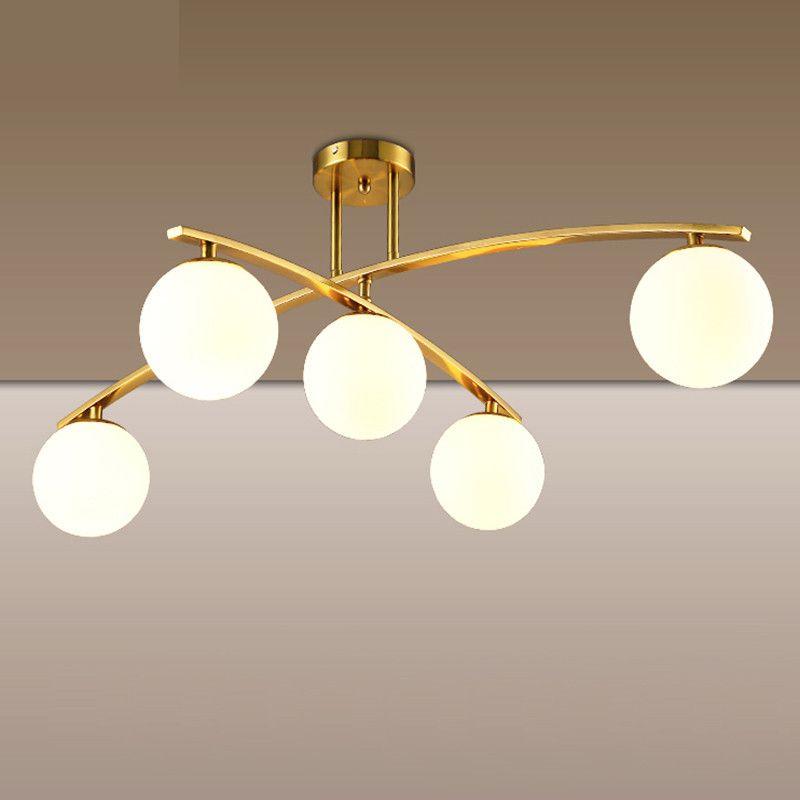 FUMAT Deckenleuchten Nordic Designer Deckenleuchte Wohnzimmer Esszimmer  Schlafzimmer Pladfond Lampe Moderne Glaskugel Deckenleuchte
