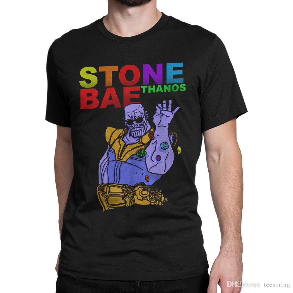 2cb6d812 Thanos Stone Bae T Shirt Marvel Comics Tee Men'S Women'S All Sizes T Shirt  Men Gorgeous Short Sleeve Crewneck Cotton XXXL Party T Shirts Cool Tee  Funny ...