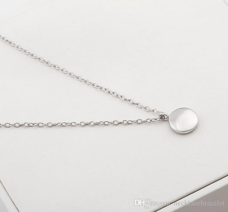 نجمة الدراما الكورية S925 قلادة من الفضة النقية سلسلة قلادة قلادة