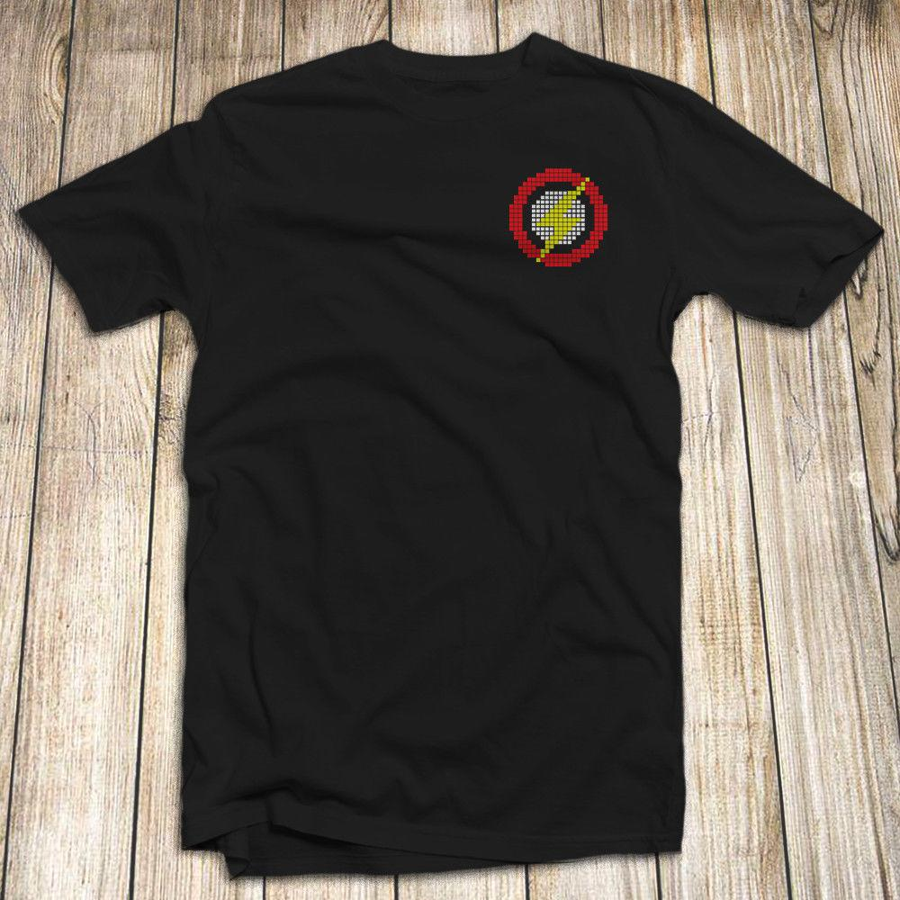 the flash superhero logo men s t shirt 100 cotton size s 5xl made