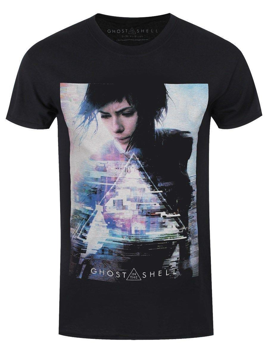 9b8c2b88ea1 Ghost In The Shell Men s Black T-shirt O Neck T-Shirts Male Low ...
