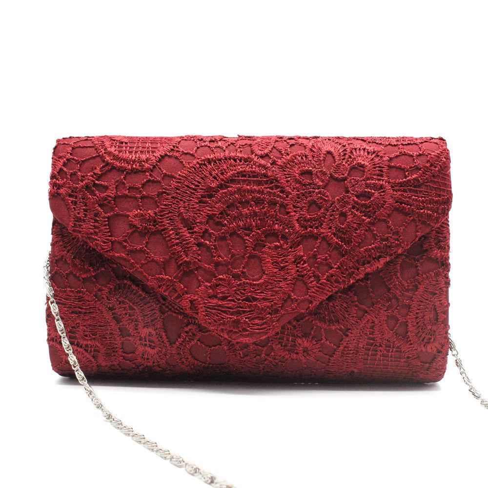 683c49f7d9 Women Evening Bag 2018 Party Banquet Lace Floral Bag For Women Girls Wedding  Clutches Handbag Chain Shoulder Bags Online Handbags On Sale From Yera