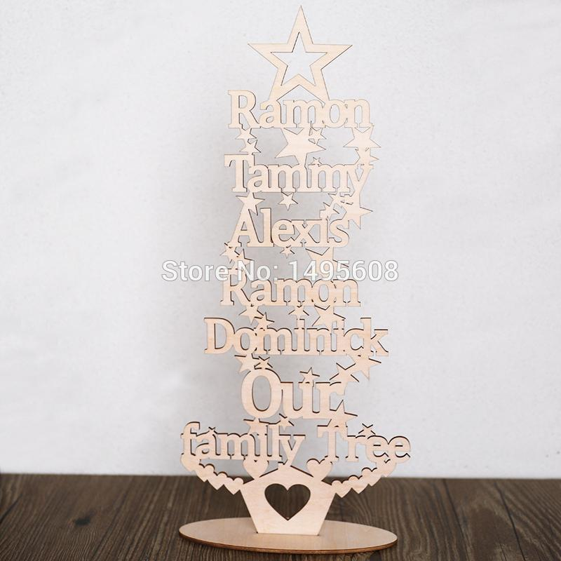 personalised christmas our family tree any words free standing