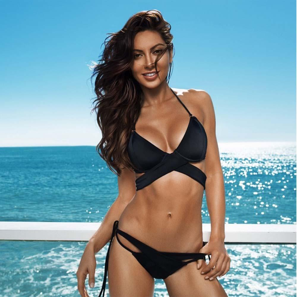 a2289cde3e Sexy Bikini Women Swimsuit 2018 Summer Bandage Bikini Set Push Up Swimwear  Polyester Crossed Bathing Suit Women Swim Wear Sexy Bikini Women Summer  Bikini ...