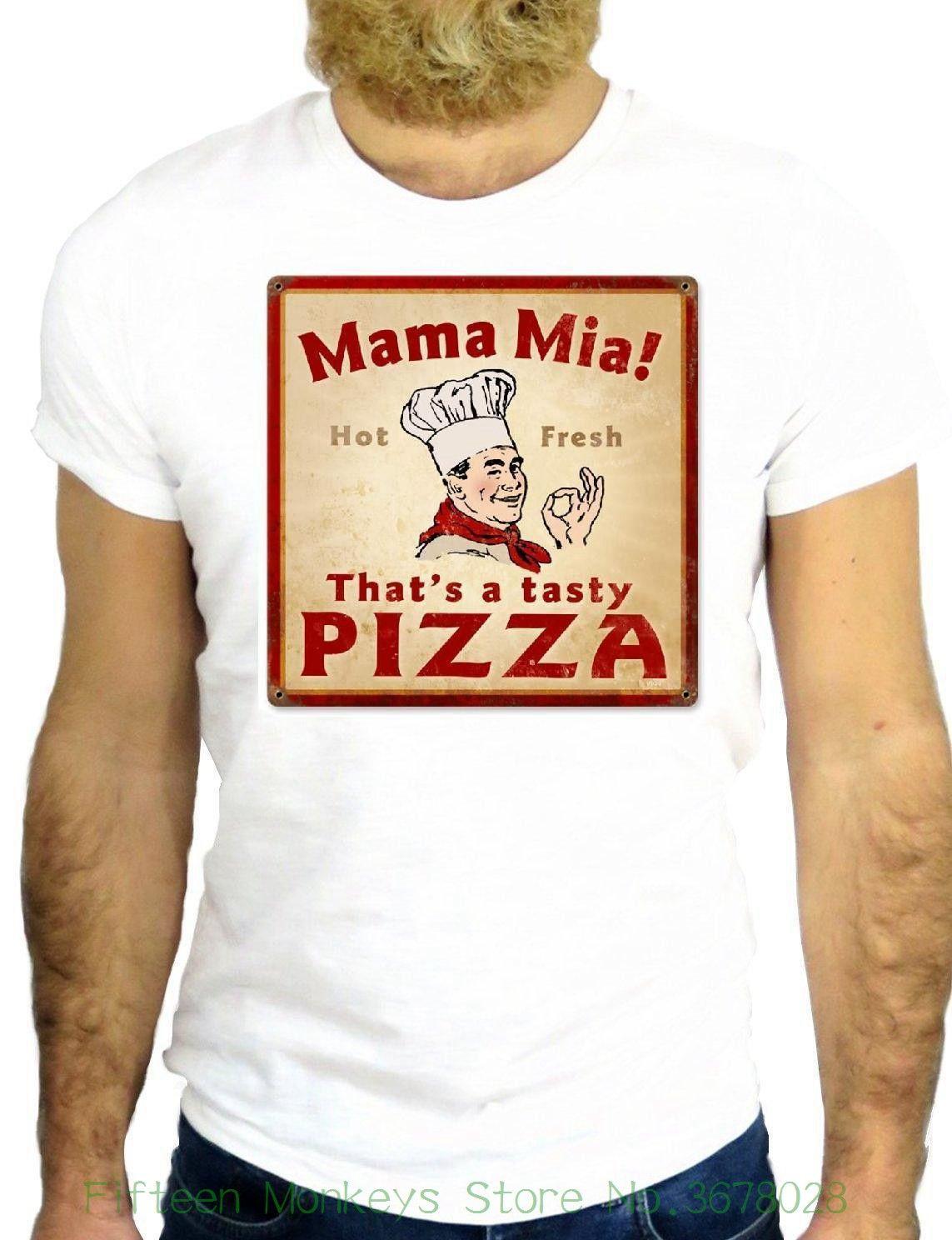 cc8f7b00c New 2018 Fashion Summer T Shirt Jode Z2098 Cool Nice Pizza Mamma Mia  Vintage Italian Food Ggg24 Online with  15.38 Piece on  Fifteenmonkeysstore s Store ...