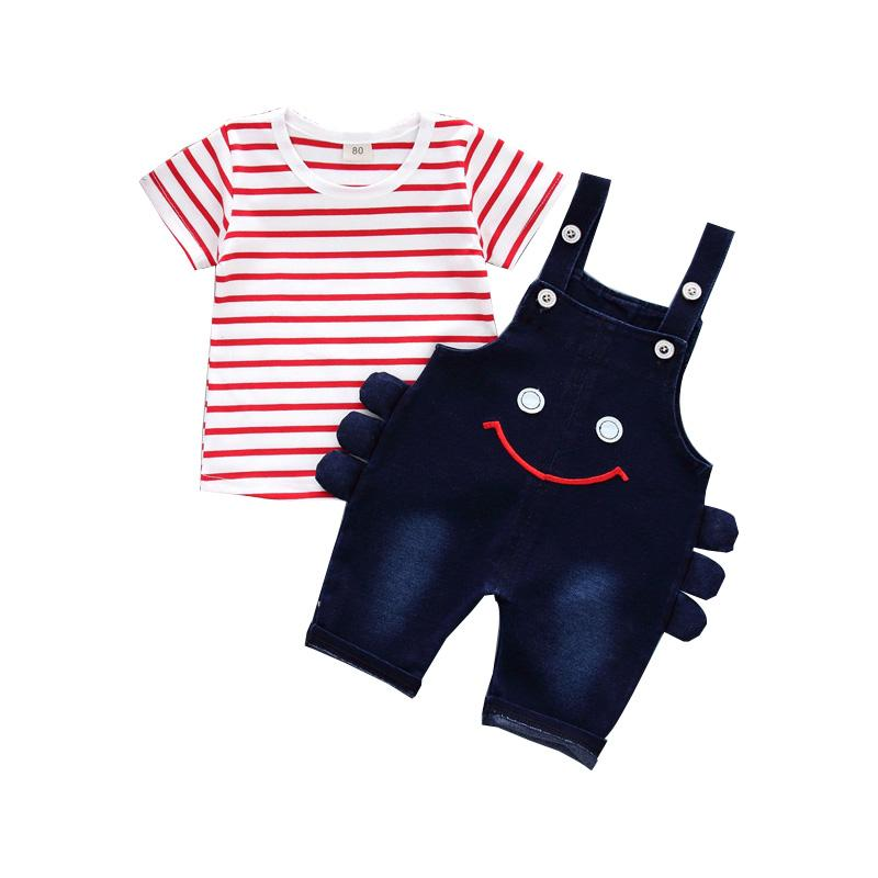 534afb869 2019 Casual Summer Girls Boys Baby Clothing Sets Kids Short Sleeve ...