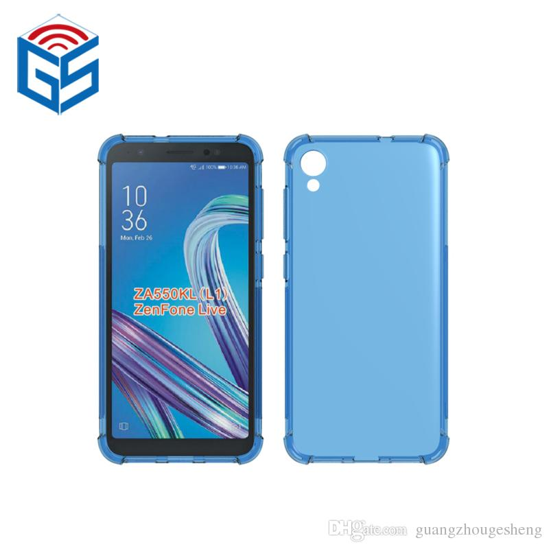sale retailer 044bb 0ccea For Asus Zenfone Live (L1) ZA550KL Full Clear Case Shockproof Edge Design  Transparent Soft TPU Cover