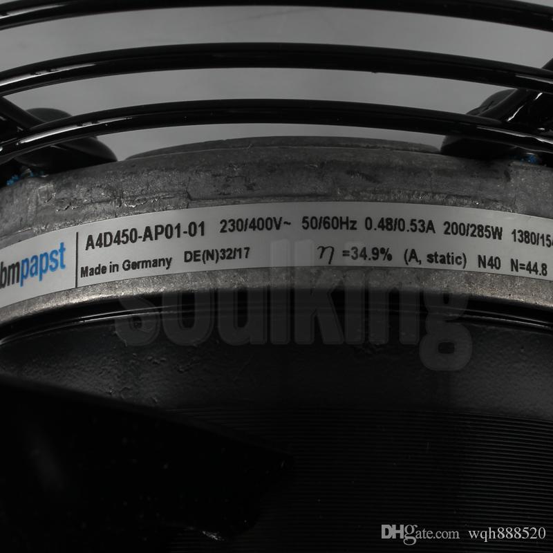 Al por mayor alemán ebmpapst S4D400 230 / 400V 0.44A 135W ebmpaspt K3G630-AS05-01 400V 17A ebmpapst A4D450-AP01-01 230 / 400V 0.48 ventilador de refrigeración