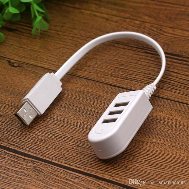 High Speed 3 Ports USB 2.0 Hub Extension Splitter Hub Adapter Connector for Laptop PC Computer Charger