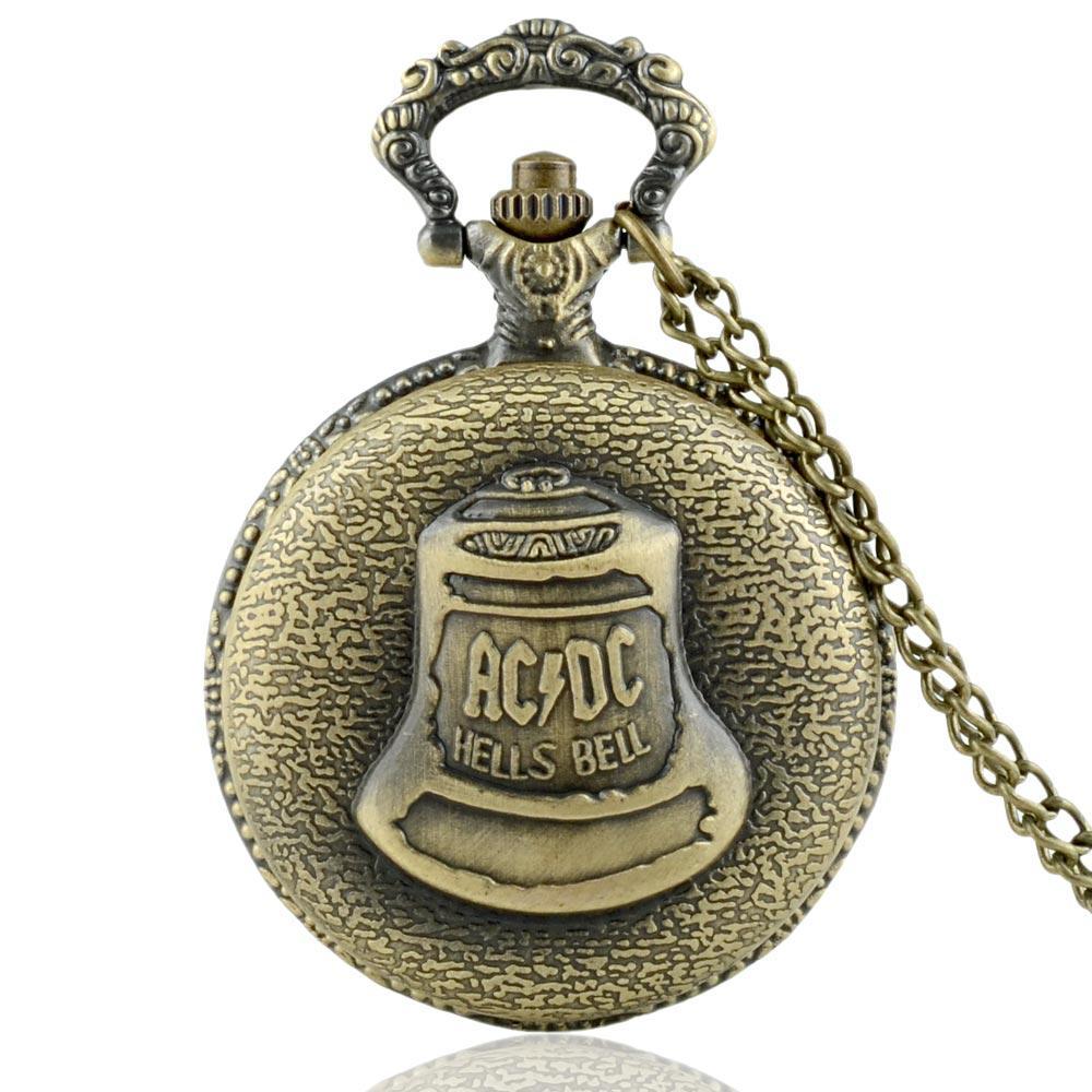 Grand Vintage Avec Hommes Cadeaux Bell Montre Shao Pendentif Bijoux Hells Kongfu Lin De Collier Retro Poche Bronze Temple Chaîne Pour 35cALR4jq