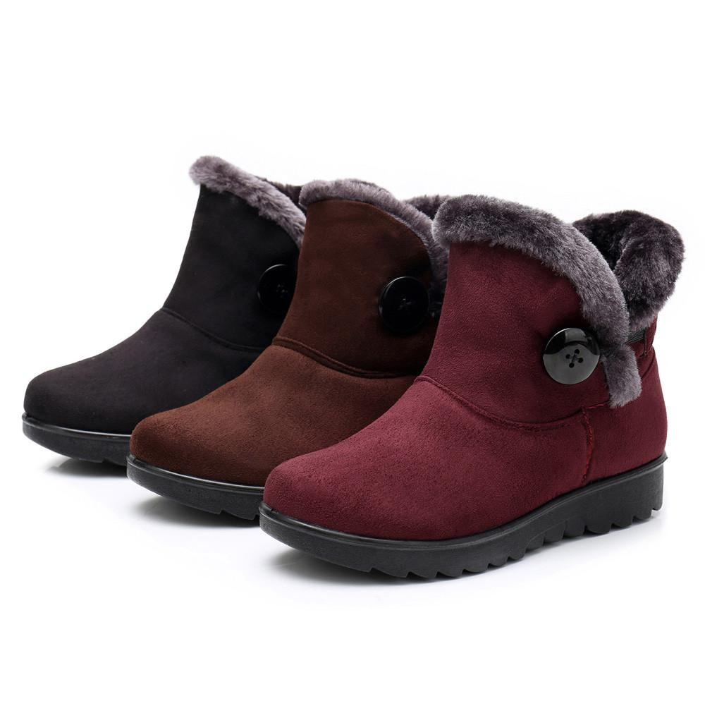 Womens Ladies Winter Ankle Martin Short Snow Boots Fur Footwear Warm Shoes  Woman Winter Lady Boots Women Fashion Hotselling Red Boots High Heel Boots  From ... 0e92a2037