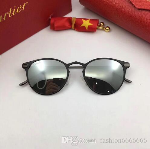 2017 Brand Designer Polarized Sunglasses Classic Aviator Occhiali da sole uomo Donna Driving occhiali UV400 Metal Frame Flash Mirror polaroid L