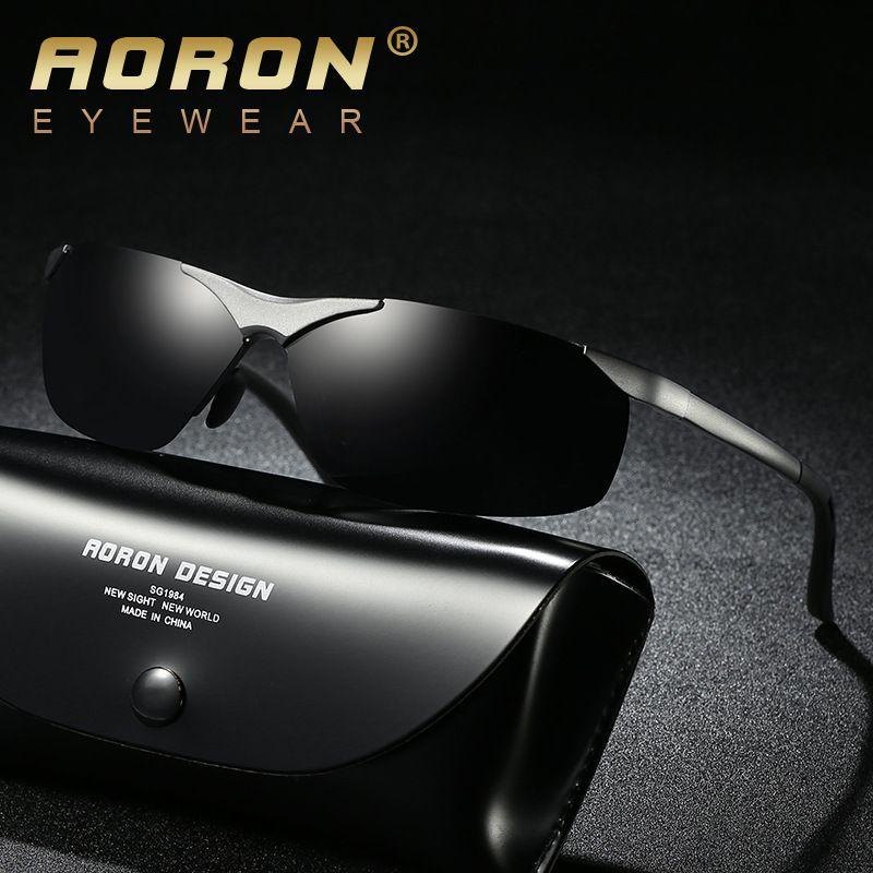 540e9e7121 AORON Aluminum Magnesium Men s Polarized Sunglasses Fishing Coating ...