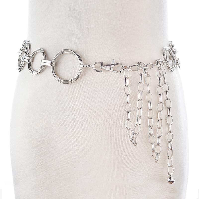 Compre Blets De Metal Para Mujer Cadena De La Cintura De Plata Señoras  Simples Falda Vestido Falda Suéter Cadena De Cintura Decorativa Cinturones  Mujeres PD ... 0bfe05bec41d