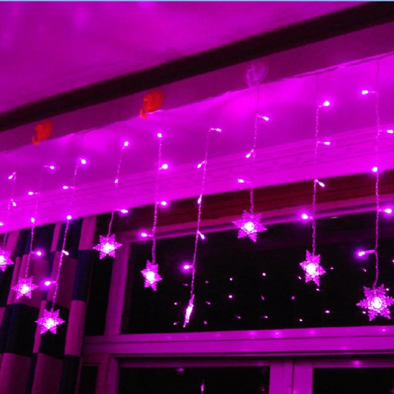 New Design 3 .8m Led Curtain Snowflake String Lights Led Fairy Lights 8 Modes Christmas Lights Wedding Party Trees Decoration