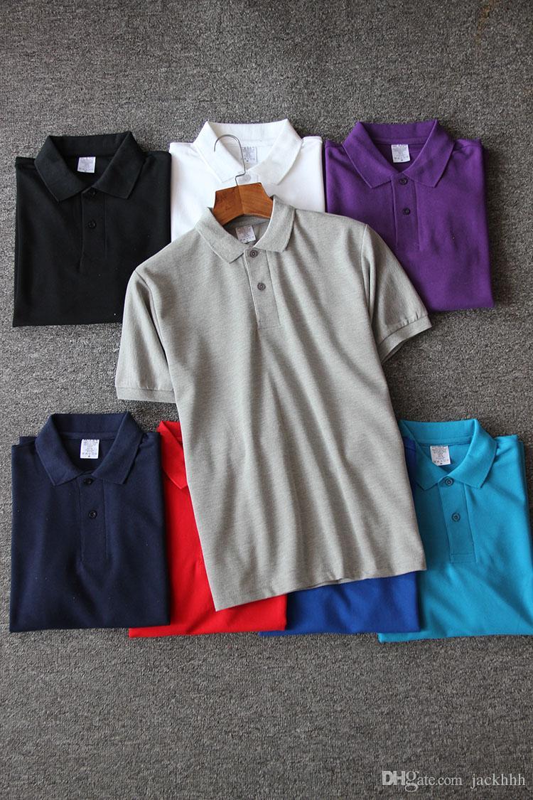5fe64cfb99f4 2018 wholesale men's polos yacht club t-shirts short sleeve polo shirts  plain tee tops Men's Tees tops