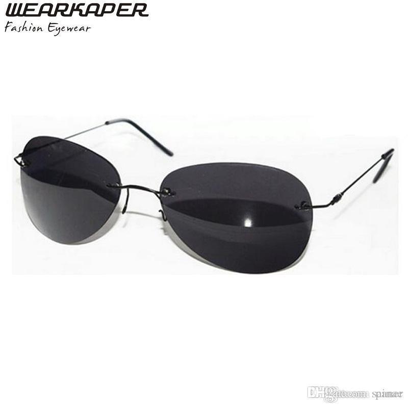 5832440fb5 WEARKAPER Rimless Classic Glasses Matrix Morpheus Sunglasses Matrix  Sunglasses Movie NEO Men Foster Grant Sunglasses Spitfire Sunglasses From  Sainae